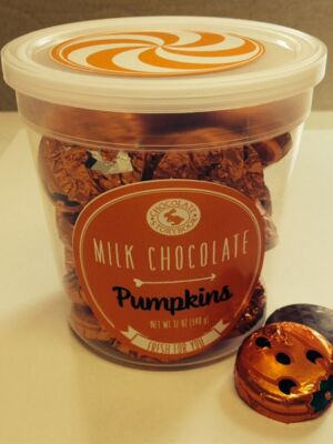 Foiled Pumpkins Small Tub