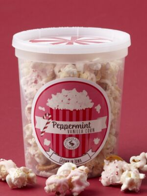 Peppermint Crunch Corn with White Chocolate