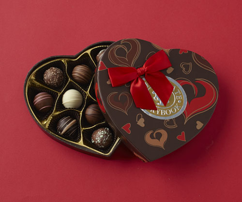 Truffles Heart Box Custom Handmade Chocolates Amp Gifts