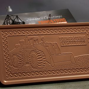 large Belgian chocolate bar