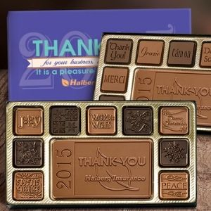 19 pc chocolate assortment with custom labels