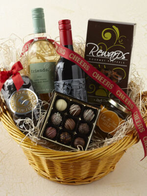 Cheers Wine & Chocolate Basket