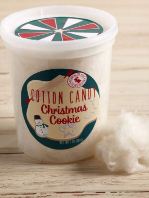 Christmas Cookie Cotton Candy Tub