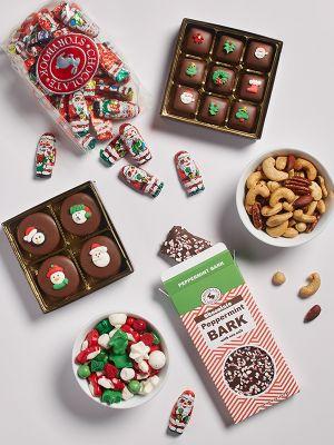 Box of holiday chocolates and treats