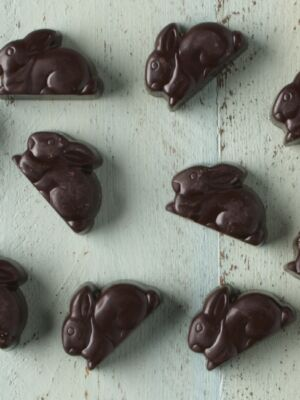 Raspberry Dark Chocolate Bunnies