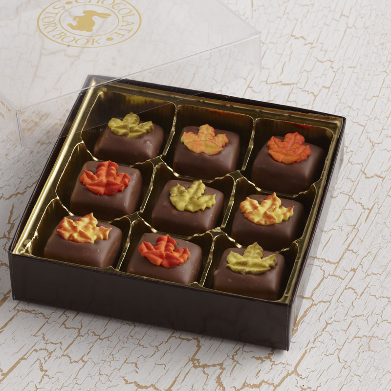 Decorated Caramels, Fall Leaves
