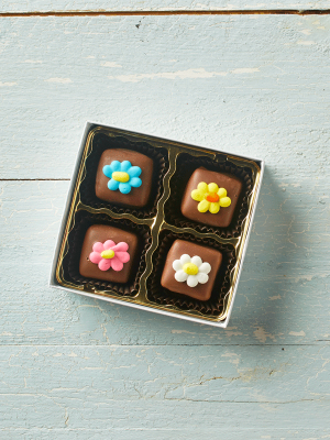 Chocolate Caramels Flowers
