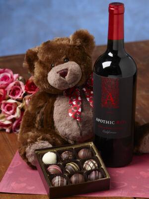 Teddy Bear, Truffles & Red Wine