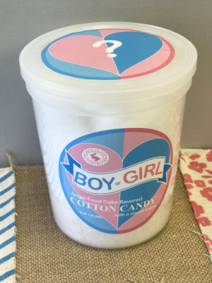 Gender Reveal Cotton Candy Website Product listing