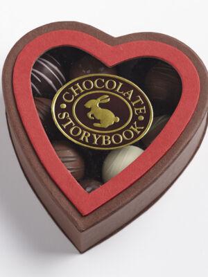 Chocolate Dessert Truffles, Heart Shaped Box