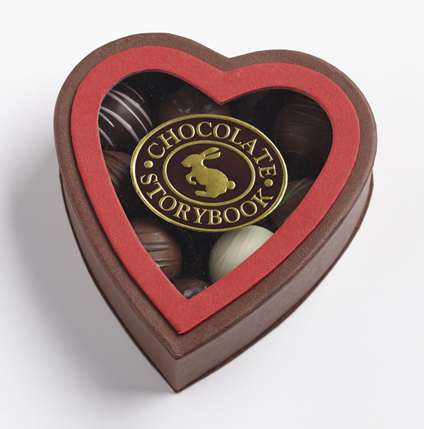 Chocolate Dessert Truffles, Heart Shaped Box