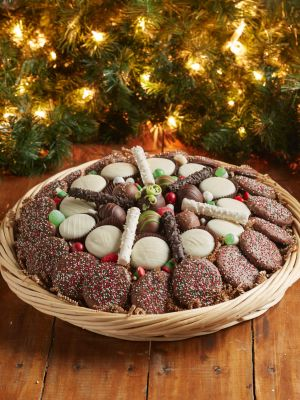 cookie and truffle holiday tray