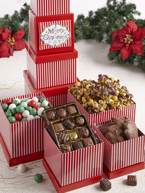 Merry Christmas Tower of Treats | Custom, Handmade Chocolates ...