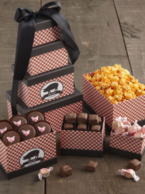 Bacon Themed Gift Tower - Pig Out on Chocolate