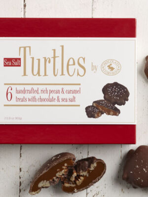Chocolate Pecan Turtles with Sea Salt