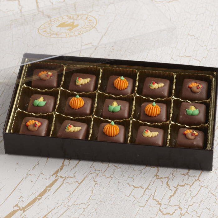 Thanksgiving Chocolate Caramels