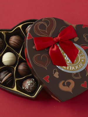 Chocolate Truffles Heart Box