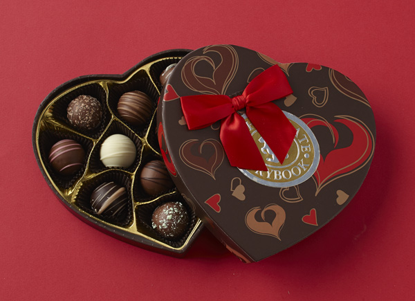 Chocolate Truffles Heart Box | Custom, Handmade Chocolates ...