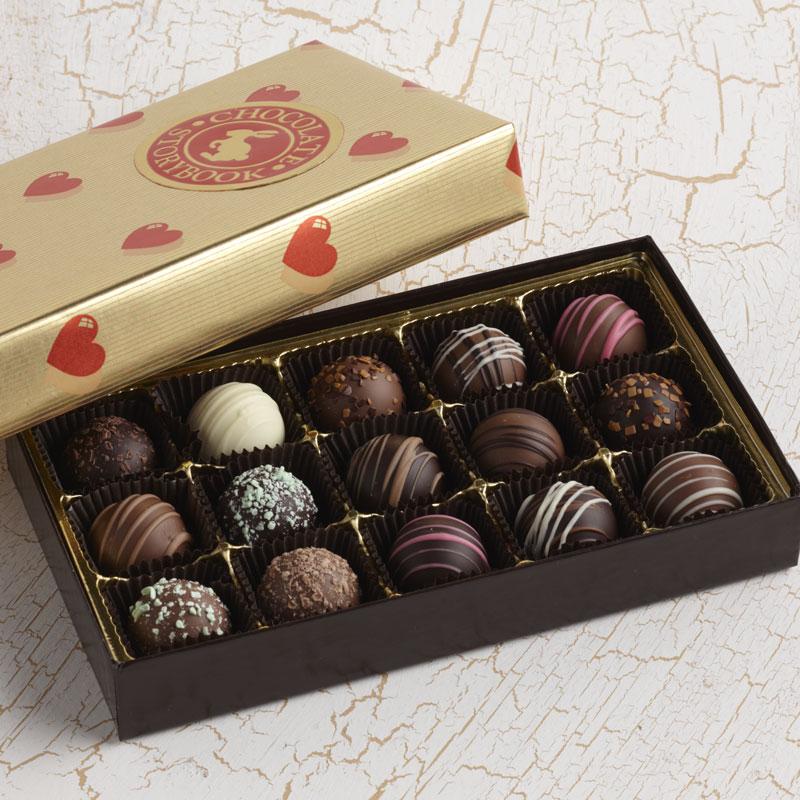Truffles Assortment Gift Box Valentine Custom Handmade Chocolates