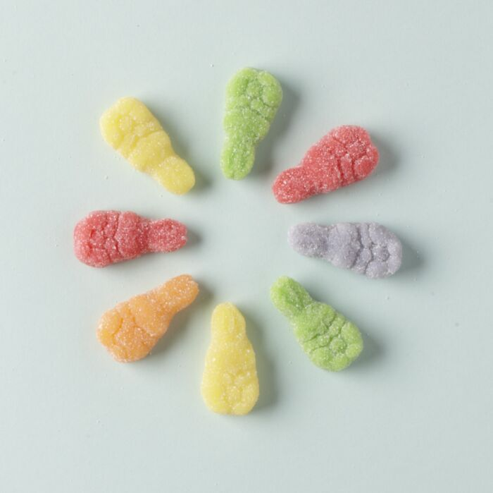 Sanded Gummy Rabbits